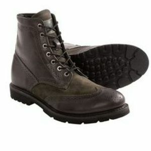 Walk-Over Zachary Grey Brogue Wing Tip Boots 9½